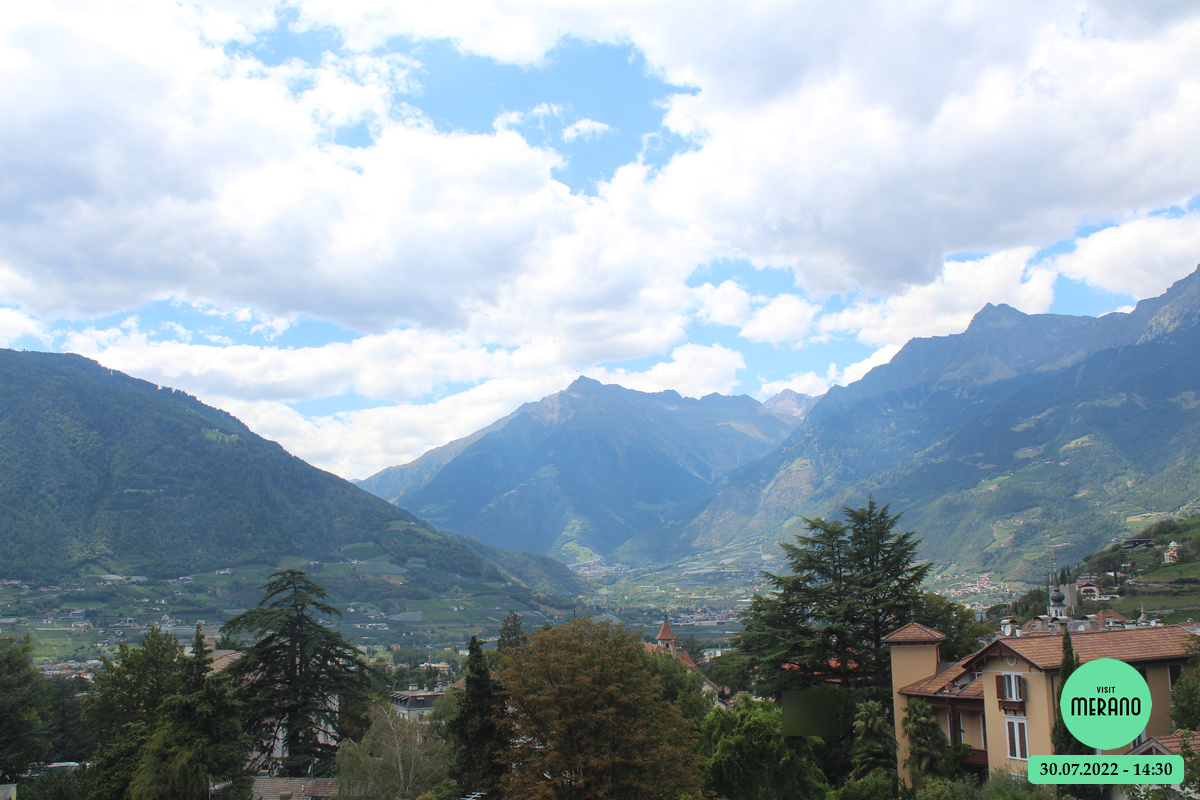 webcam con vista su Merano